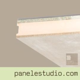 Panel sandwich de entreplanta y cubierta cemento madera XPS aglomerando hidrofugo.