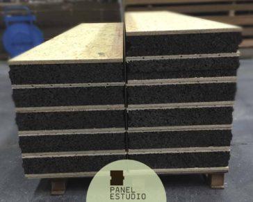 Panel para bioconstrucción con núcleo de corcho natural sin compuestos químicos de 100 mm.