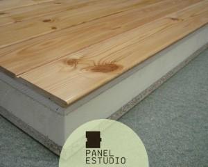 Altas prestaciones, panel de pino rojo madera natural.