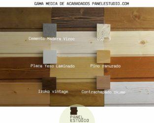 Gama de colores de paneles de madera decorativos. Gama media panelestudio.com