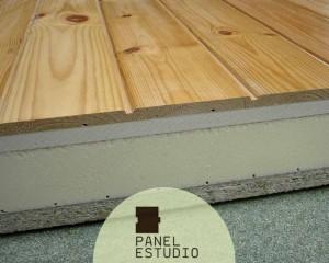 Panel de altas prestaciones acabado pino rojo madera.
