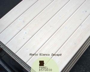 Panel de madera abeto blanco decapé.