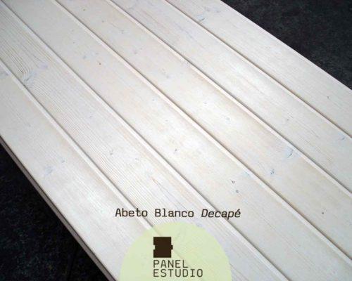 Panel sandwich de madera abeto blanco decapé.
