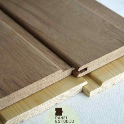 Dos muestras de friso madera.