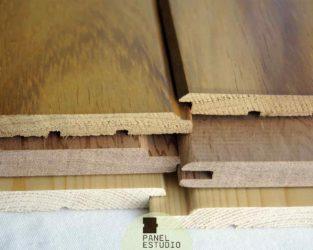 Ejemplos de friso madera alta gama.