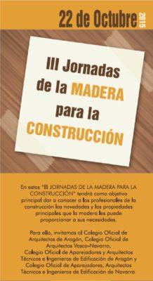 III Jornadas de la madera para la construcción 2015.