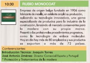 Rubio Monocoat III Jornadas de la madera para construcción.