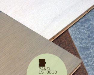 Gama de acabados de paneles de madera para cubierta.