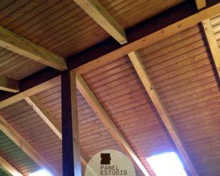 Friso abeto paneles de madera con n cleo aislante - Paneles madera exterior ...