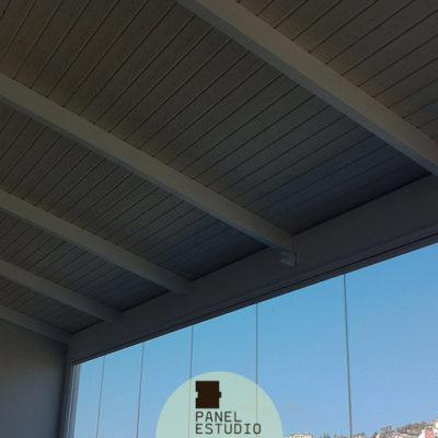 Panel de madera terrazas y porches. Fabricante de paneles acabados decorativos. Paneles Valencia.
