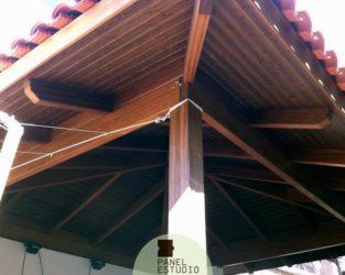 Friso abeto panel de madera para tejados y cubiertas for Tejados de madera para exterior