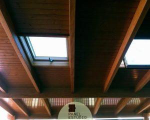Precio m2 panel sandwich de madera para cubiertas. Panel friso Madrid.