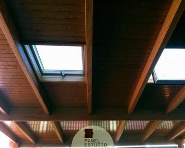 Paneles de madera con n cleo aislante for Tejados de madera precio m2