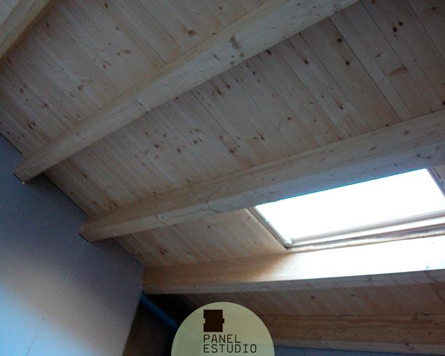 Tejado panel madera ejecuci n de tejado de estructura de - Estructura tejado madera ...
