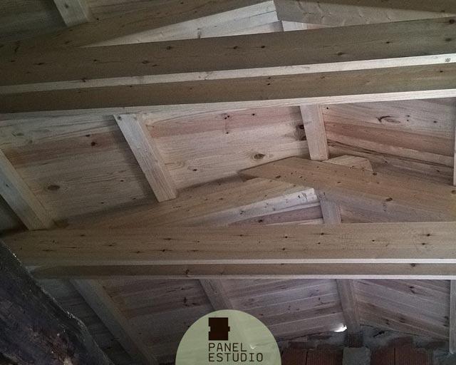 Paneles tejado madera natural paneles sandwich de madera - Estructura tejado madera ...