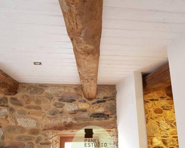 Friso blanco. Reforma techo friso blanco.