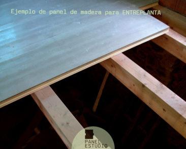 Abeto panel entreplanta madera.