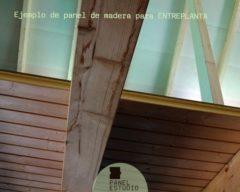 Como instalar panel entreplanta madera abeto.